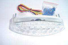 FAROLIM OVAL 15 LED VIDRO BRANCO